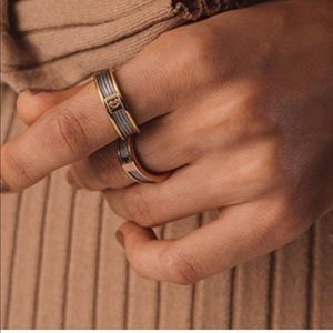 Charriol Forever Ring Stainless and gold PVD NWT's